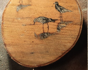 Birds block print