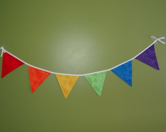 Rainbow color bunting