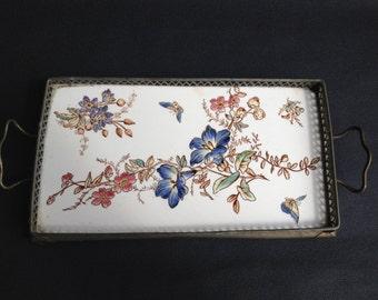 Antique porcelain tray