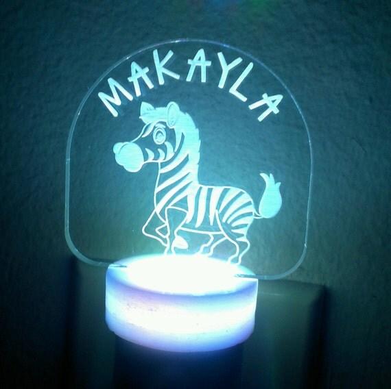 Zebra Led Nightlight Night Light Personalized Acrylic