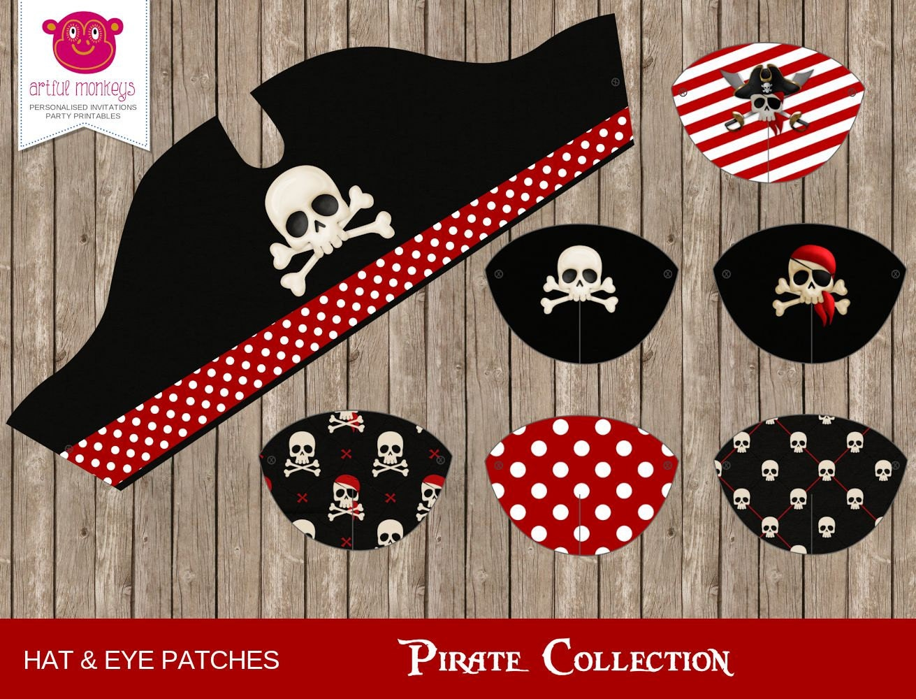 This is a graphic of Adaptable Printable Pirate Hat