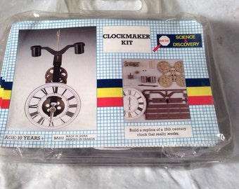 Clockmaker Unbuilt Kit by Battat Science & Discovery 15th Century Clock Replica That Works et3b
