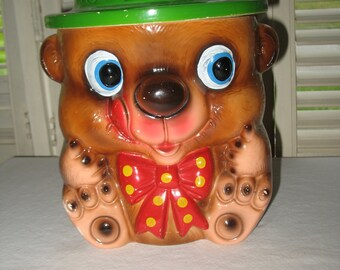 Smokey ceramic cookie jars junior vintage your postal code for actual shipping S V P