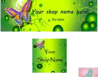 Facebook Banner Set, Banners, Facebok Avatar, Digital Graphics, Facebook Cover Image