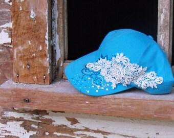 lace ball hat