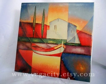 Abstract printing on ceramic tile,home decor,printing master,art print on tile,tile print,Maiden's Tower,istanbul,