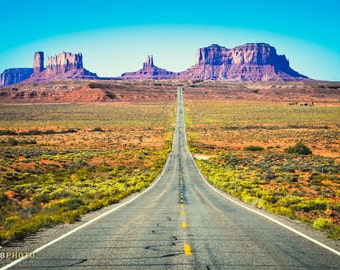 Travel Decor, Wanderlust, Travel Photography, Travel Wall Art, Wild West, Monument Valley, Utah, Open Road, Nomadic, Route 66, Print, Color