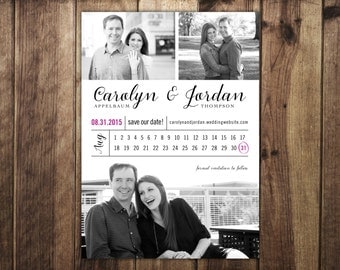 Wedding Save the Date Three Photo Card