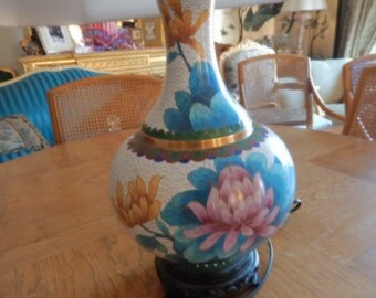 CHINA CLOISONNE LAMP