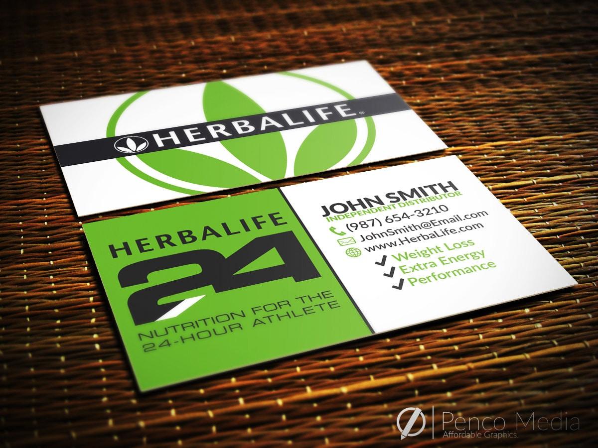 HerbaLife Business Card Design HerbaLife Nutrition by