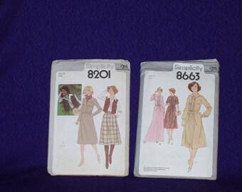 Vintage Simplicity Pattern lot (1970's)