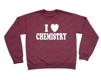 I heart Chemistry - Crewneck Sweatshirt