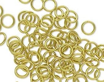 Brass Jump ring, 6mm jump ring, gold jump ring, round, 20 gauge, 50 each, D305
