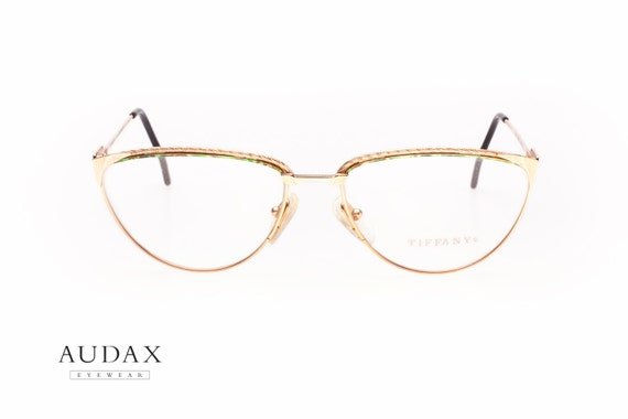 09a44083abd77f Vintage Tiffany Lunettes T 47 23k gold plated   Ladies cateye