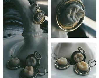 REAL human half molar pendants