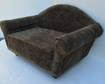 Handmade Upholstered Dog Couch, Pet Bed, Pet Furniture