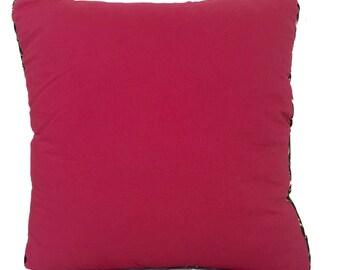 raspberry and confetti cushion cover