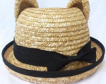 Ears Summer Straw Hat