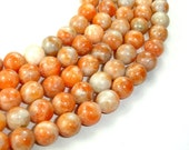Orange Calcite Beads, Round, 10 mm, 16 Inch, Full strand, Approx 42 beads, Hole 1 mm (335054001)