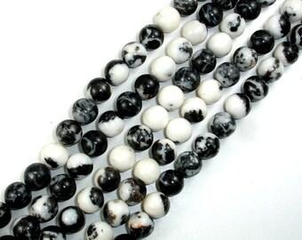 Zebra Jasper Beads, Round, 10mm(10.5mm), 15.5 Inch, Full strand, Approx 38 beads, Hole 1 mm (445054003)