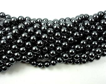 Hematite Beads, Round, 7.8mm, 16 Inch, Full strand, Approx 55 beads, Hole 0.8 mm (269054001)