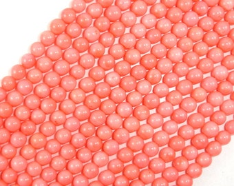 Pink Coral Beads, Angel Skin Coral, 6mm(5.9mm) Round Beads, 15.5 Inch, Full strand, Approx 70 beads, Hole 0.6 mm (118054003)