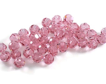Swarovski Crystal 6mm Round Bead 5000 Light Rose