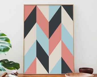 scandinavian pattern _ Printable Poster - 50x70 cm A3 A4 - Abstract Geometric, minimalist, scandinavian poster, poster 50x70, graphic poster