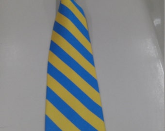 Blue and Gold Stripe Tie