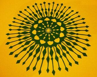 Spiky Retro Mandala Papercut Design Personal Use Template - DIY