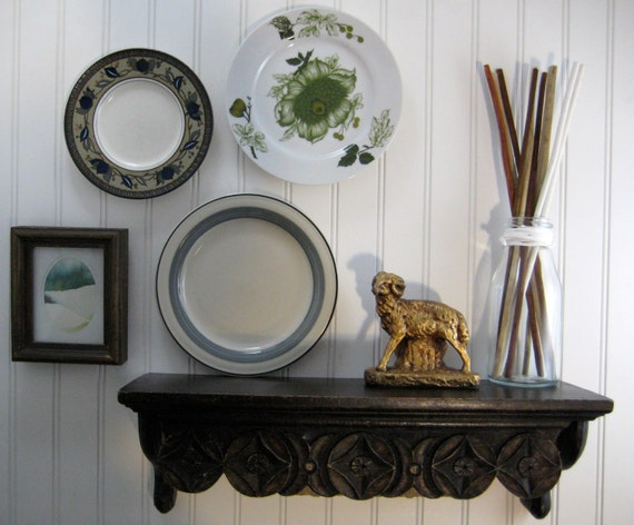Decorative plates kitchen wall decor vintage mismatched - Decorating with plates in kitchen ...