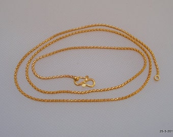 ethnic 20k gold chain necklace from rajasthan india