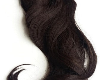 """Hair Fusion InvisibleMicro-Loop  Headband Secret Extensions -""""Halo Style Hair""""-multi-colors-salon-inspired """"CHOCOLATE BROWN"""""""