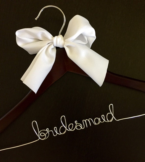 Personalized wedding dress hanger bridal hanger by for Personalised wedding dress hanger