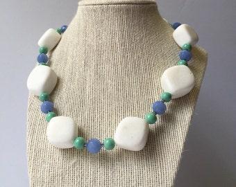 White Stone Necklace