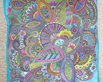 Psychedelic Paisley 'Evie's Garden' Cushion