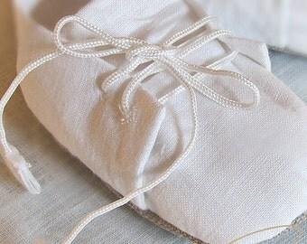 Baptismal flatties for boy, Christening shoes, Linen shoes boys, Flatties for Baptism