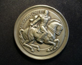 Uruguay-Chile Monument to General O'Higgins 1943 Medal