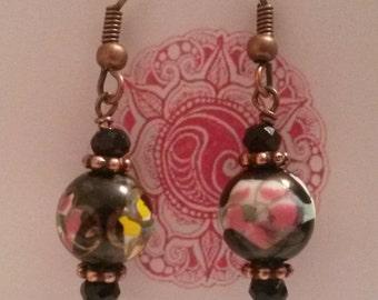 Paris earrings black