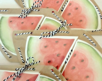repositionable decals - watermelon slices IN STOCK