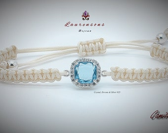 "Pulsera/Bracelet Camila XII  ""Zircons, Crystal & Silver 925"""