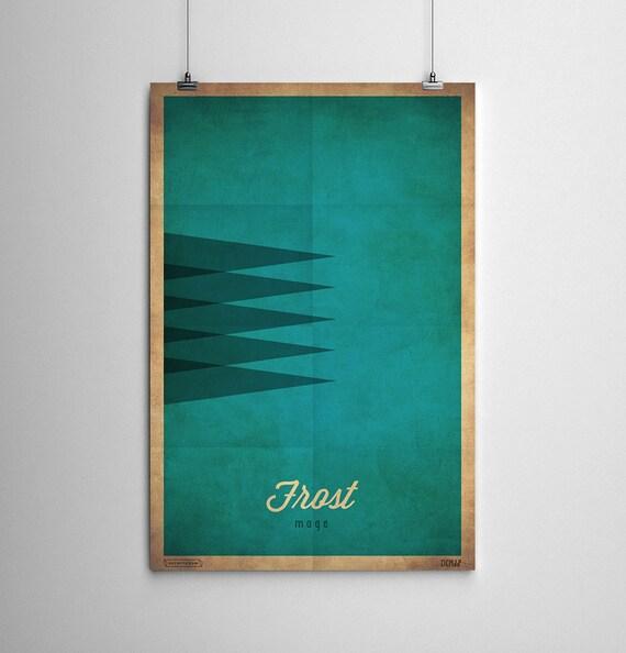 Minimalist Classroom Booking ~ Frost mage wow minimalist class poster series