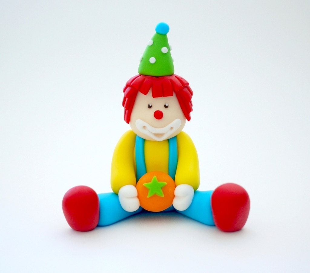 Etsy Fondant Cake Topper Clown