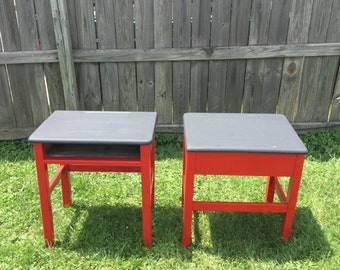 Chalkboard paint school desk
