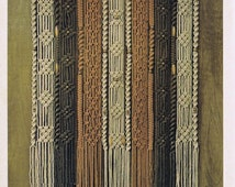 Vintage Macrame Pattern 1970's to make A Retro Macrame Curtain or Room Divider by A PDF for Immediate Digital Delivery