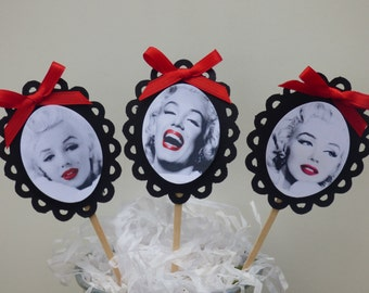 Hollywood Glam Marilyn Monroe Cupcake Toppers