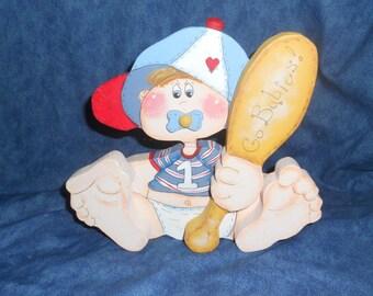Baby Boy Wood Doll