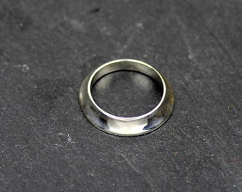 ZALOMÉ 1 - ring made of shiny silver - silver rings