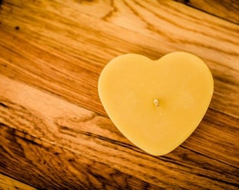 100% Beeswax Heart Candle