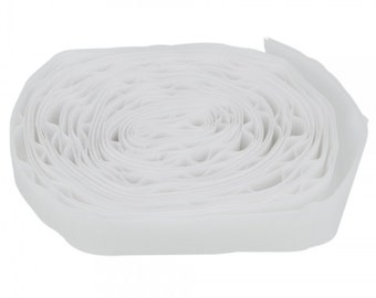 4cm (1.57 Inch) Width Nylon and Polyester Fiber Hook and Loop Velcro White